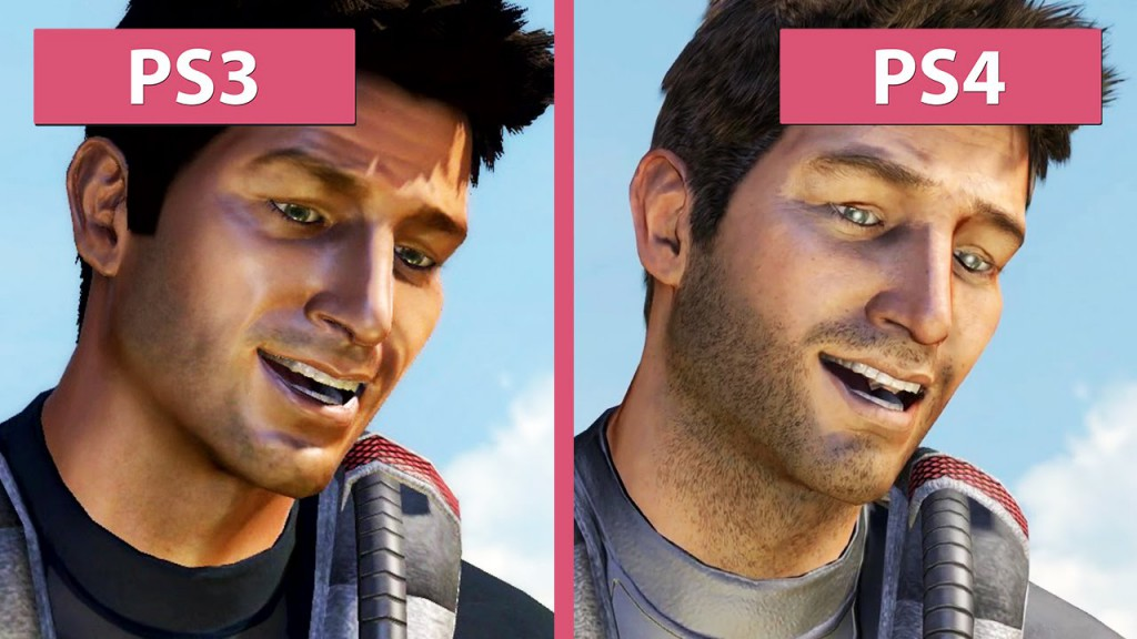 Nathan Drake 2007 vs 2015 (source : Youtube CandyLand)
